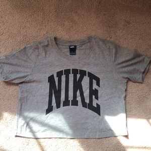Nike grey cropped t-shirt